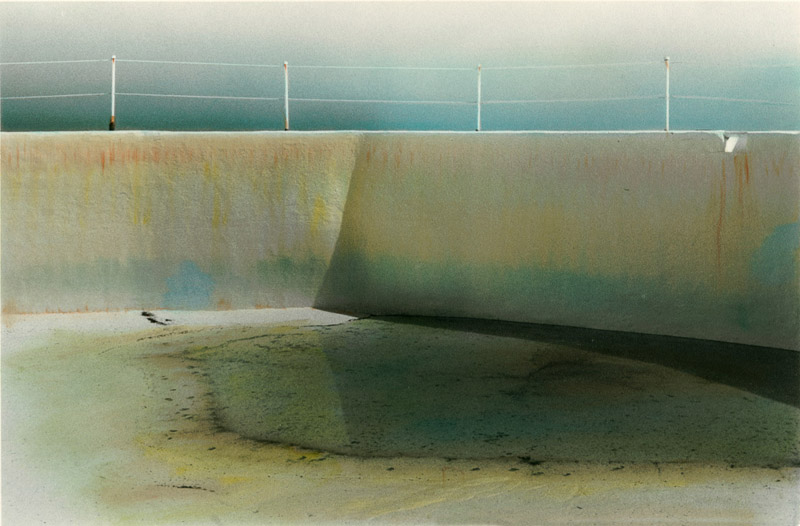 Donna Lee Rollins • Pool #10 • Unique Handpainted Fiber Silver Gelatin Print